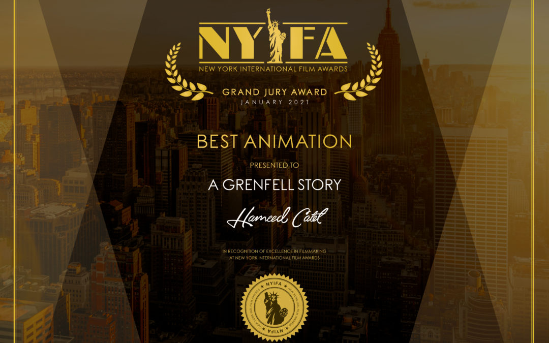 We are now an Award Winning Animation Company